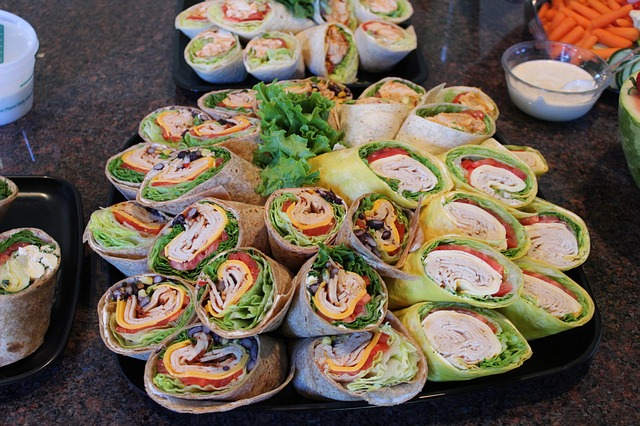 Wraps Food Lunch Tortilla Meal Snack Sandwich