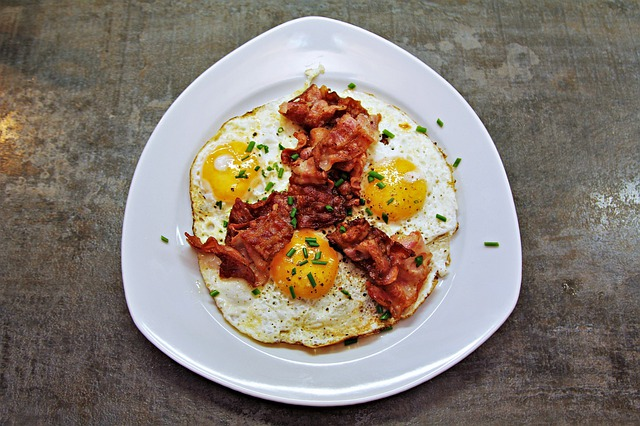 Eggs Fried Egg Bacon Protein Food Yummy Meal